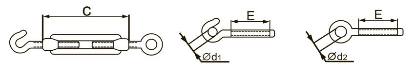 Талреп монтажный DIN 1480 схема чертеж