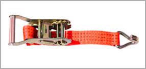 Стяжной ремень, рэтчет крюк J-образный, лента и храповый замок(трещотка)