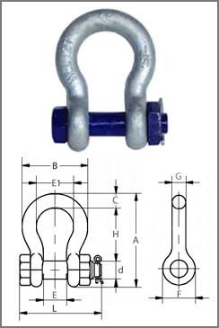 Скоба такелажная типа G2130