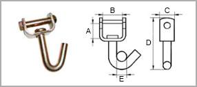 рэтчет крюк J-образный поворотный